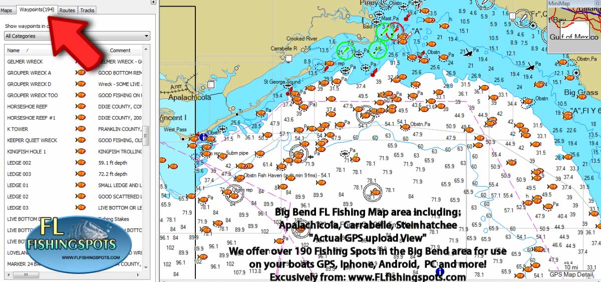 Florida Fishing Maps with GPS Coordinates | Florida Fishing Maps for GPS