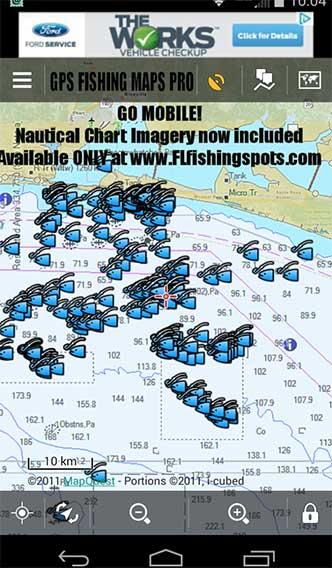 Florida Fishing Maps for Mobile Devices | Florida Fishing