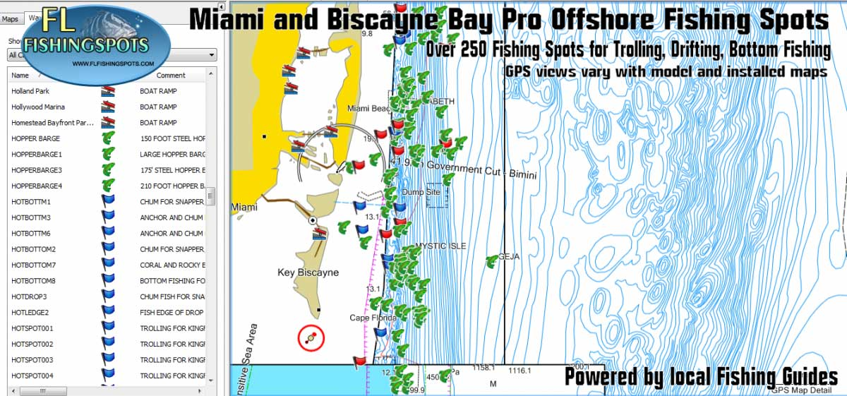 miami florida offshore fishing map florida fishing maps