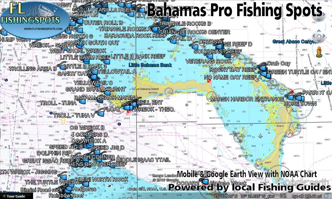 Bahamas fishing maps and fishing spots florida fishing for Fishing spots in florida