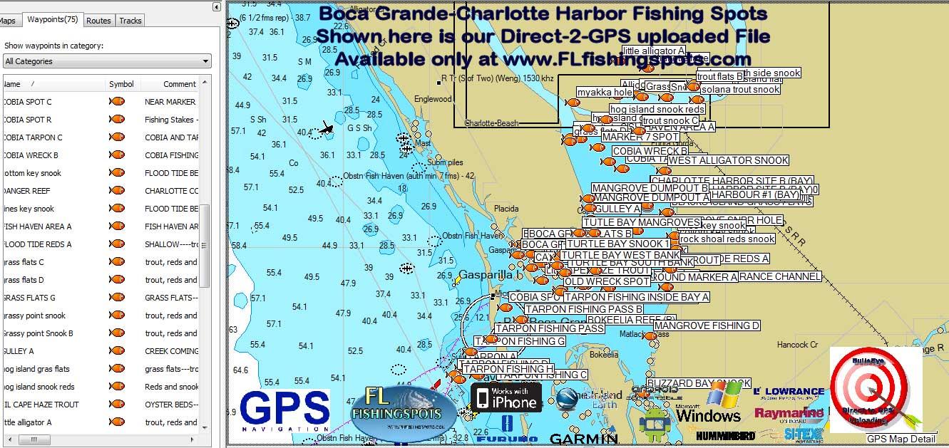 Florida Fishing Maps With Gps Coordinates Florida