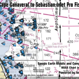 Cape Canaveral Florida Fishing Map