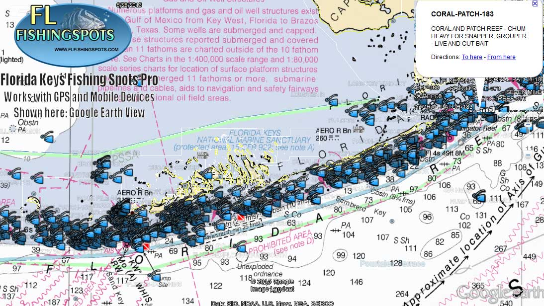 Florida keys fishing map florida fishing maps for gps for Best fishing spots in florida