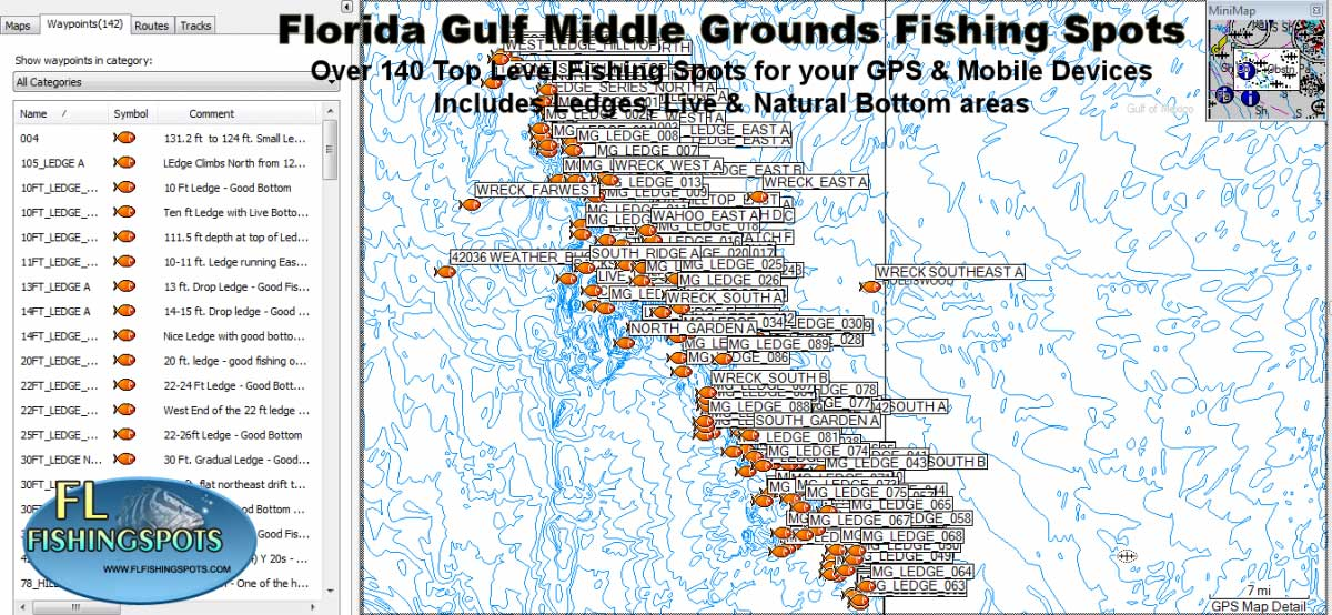 florida middle grounds florida fishing maps for gps