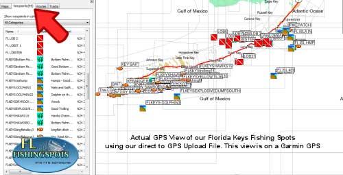 Florida Keys Fishing Spots for GPS