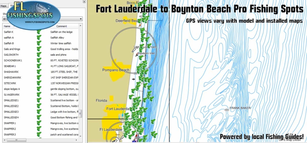 fort lauderdale to boynton beach fishing map florida