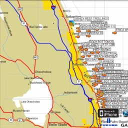 Fort Pierce Florida Fishing Map
