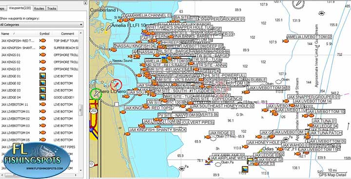 jacksonville florida fishing map florida fishing maps