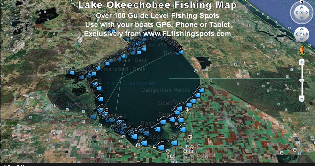 Image Result For Fishing Map Of Lake Okeechobee Florida