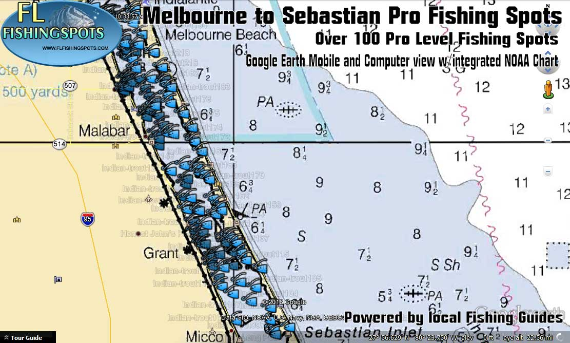 Indian river fishing spots for melbourne to sebastian for Fishing spots in florida