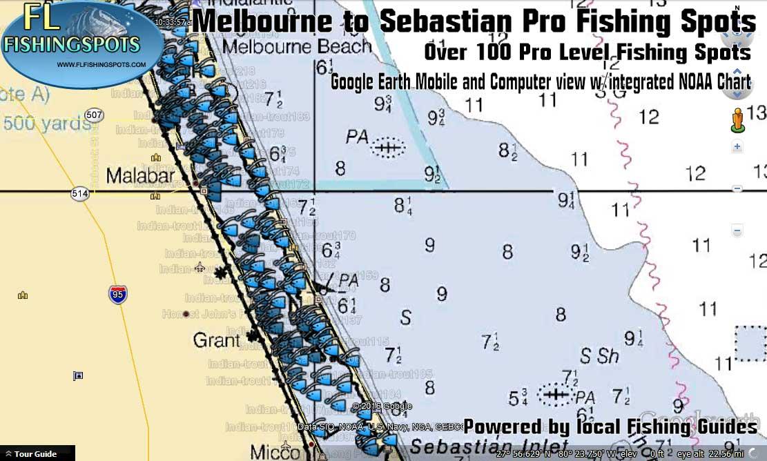 Map Of Sebastian Florida.Melbourne To Sebastian Fishing Spots Indian River Fishing Spots