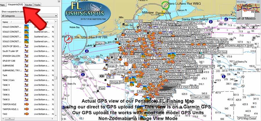 Panama city beach fishing spots florida fishing maps for gps for Best fishing spots in florida