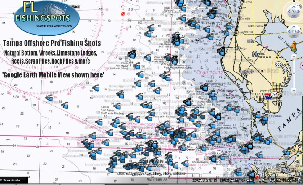 tampa florida offshore fishing map florida fishing maps for gps. Black Bedroom Furniture Sets. Home Design Ideas
