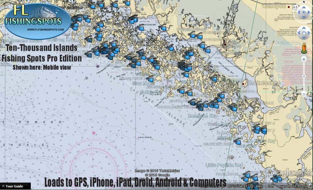 Ten thousand islands fishing map florida fishing maps for Fishing spots app