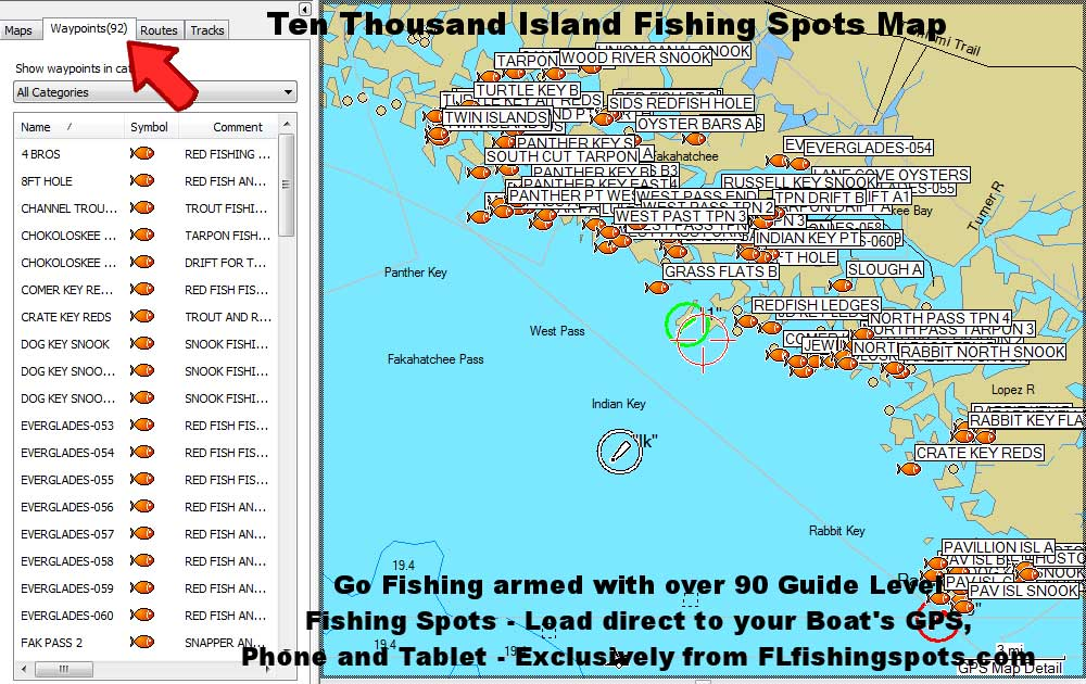 Ten Thousand Islands Florida Fishing Spots for GPS