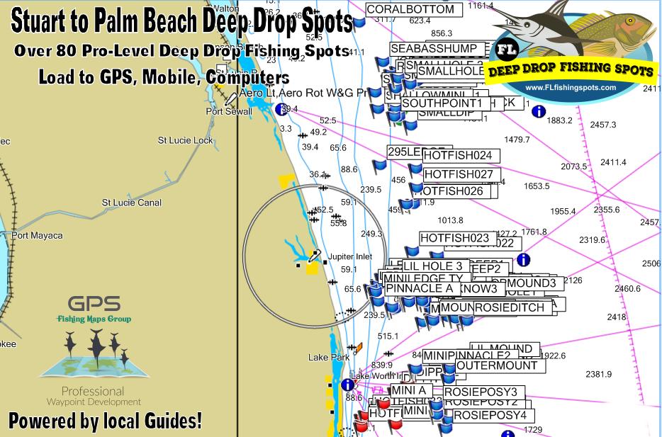 Suart Florida to Palm Beach Florida Deep Drop Fishing Spots