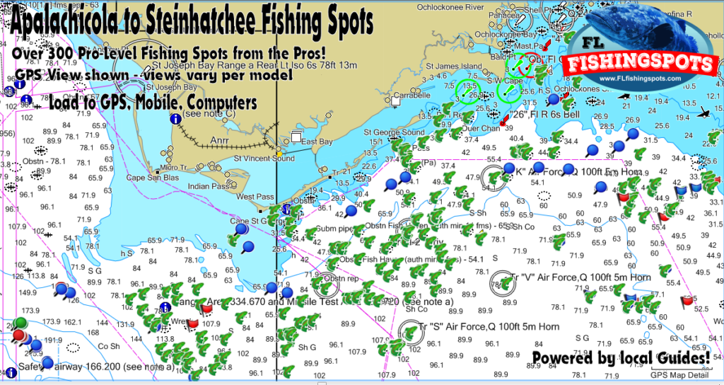 Apalachicola Florida Map.Apalachicola Florida Gps Fishing Spots For Offshore Fishing In The Gulf