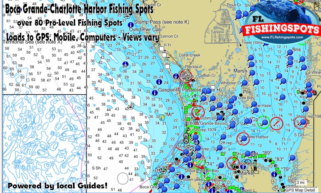 Boca Grande Florida Fishing Spots at Charlotte Harbor