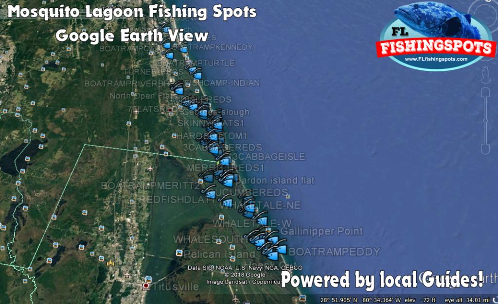 Mosquito Lagoon Gps Fishing Map By Florida Fishing Spots