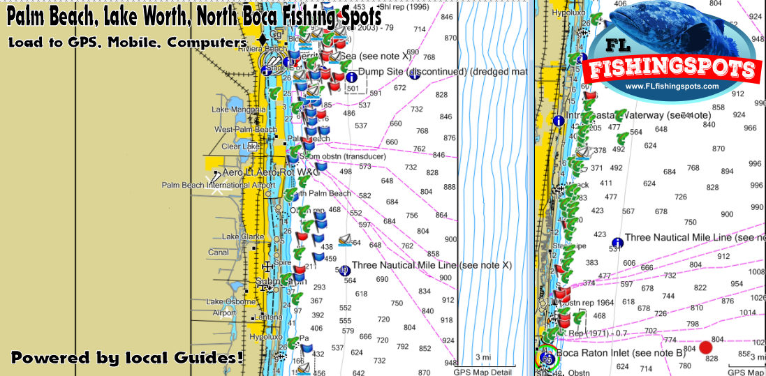 Palm Beach & Boca Raton Florida GPS Spots for ... on map of palm bay, map of palm beach gardens, map of palm springs, map of palm harbor, map of palm coast,