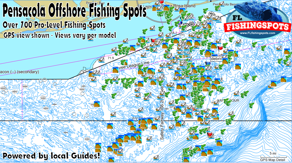 Pensacola Florida Fishing Spots for GPS