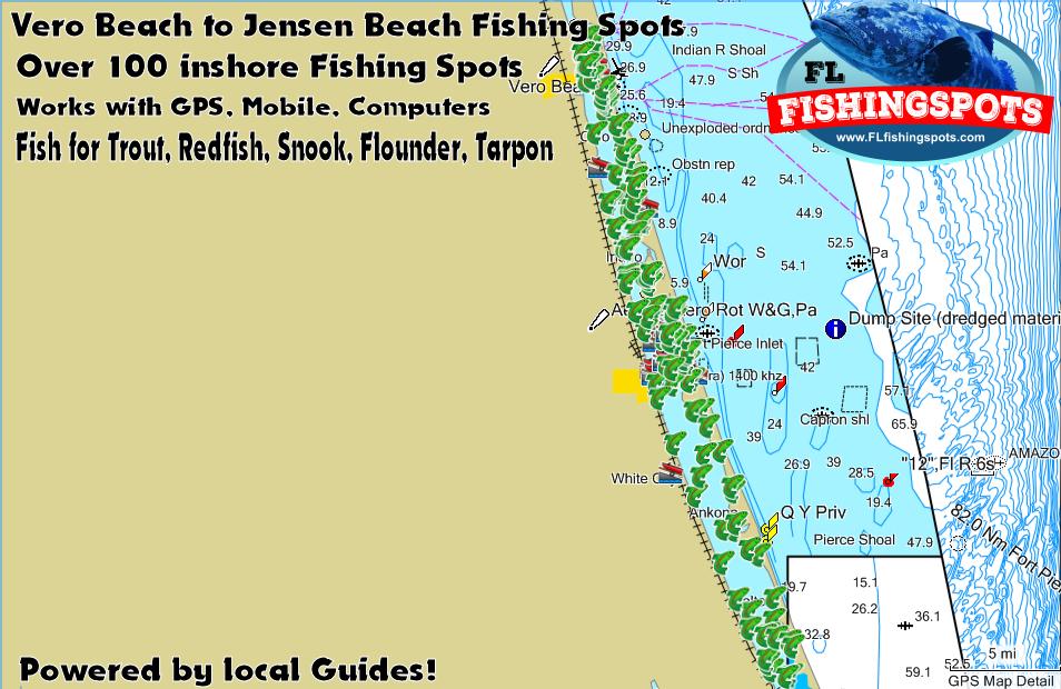 Vero To Jensen Beach Florida Fishing Spots Indian River Gps
