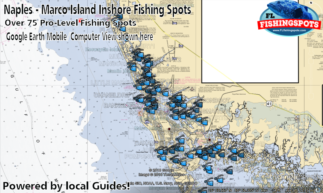 Naples Florida Marco Island Gps Fishing Spots For Inshore Fishing