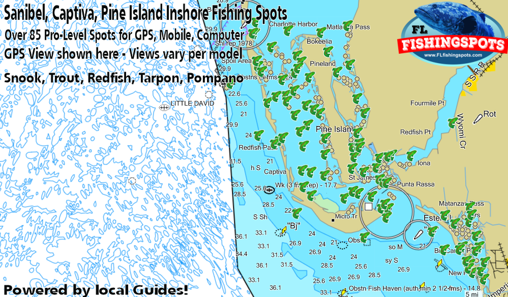 Fort Myers GPS Fishing Spots including Sanibel, Captiva and ...