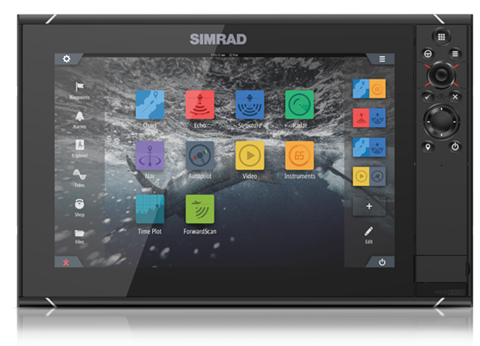 simrad gps fishing spots