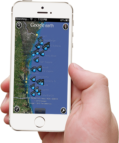Florida Fishing Maps for Mobile and GPS